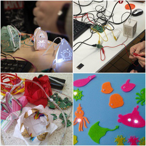 collage of paper lantern projects