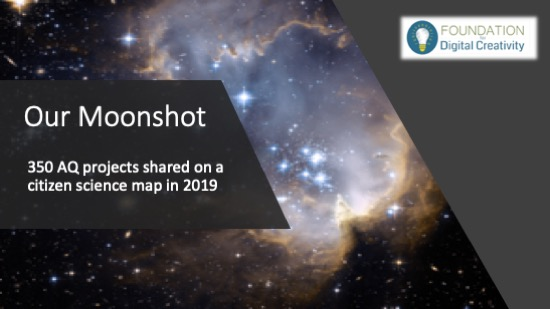 moonshot ambition of 350 air quality projects on a crowd sourced map in 2019